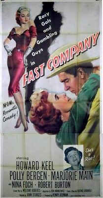 FAST COMPANY 1953 Howard Keel, Nina Foch, Polly Bergen US 3-SHEET POSTER
