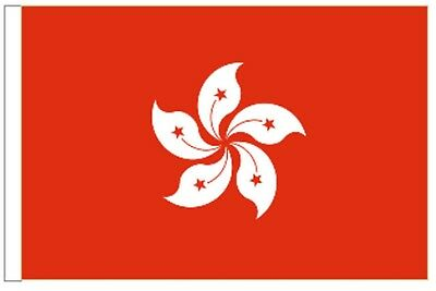 Hong Kong Sleeved Courtesy Flag ideal for Boats 45cm x 30cm
