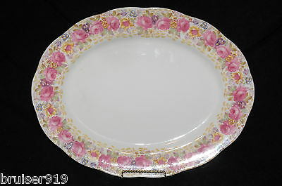 "SERENA Royal Albert Large15-1/4"" SERVING PLATTER MEAT PLATE TRAY Dish ENGLAND"