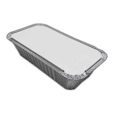 No6a LARGE ALUMINIUM FOIL FOOD CONTAINERS + LIDS x 200