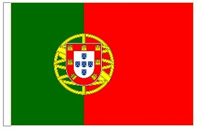 Portugal Sleeved Courtesy Flag ideal for Boats 45cm x 30cm