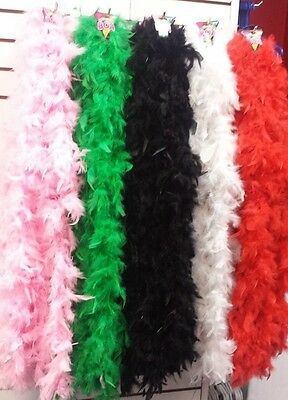 Feather Boas - 6' long Assorted Colors for Dress up, Bachelorette, School spirit
