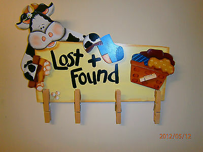 PAINTED...Cow Laundry Sign