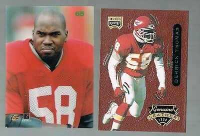 1996 playoff Contenders Genuine Leather DERRICK THOMAS #65 Chiefs / Alabama