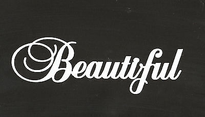 Scrapbooking Words - Beautiful