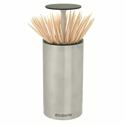 Brabantia Get Together Stainless Steel Soft Touch Pop-Up Toothpick Holder