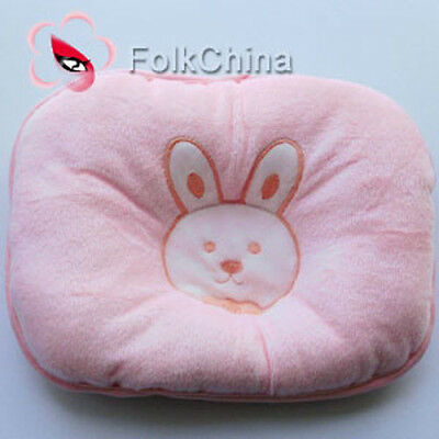 Bunny Pink Pillow Newborn Infant Baby Support Cushion Pad Prevent Flat Head