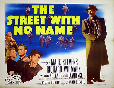 STREET WITH NO NAME 1948 Richard Widmark, Mark Stevens US HALF SHEET POSTER
