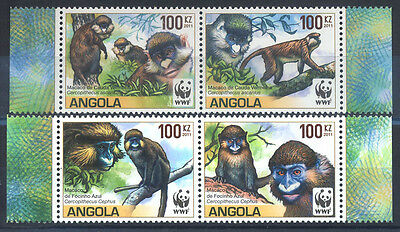 2012 WWF ANGOLA MONKEY Stamp S4