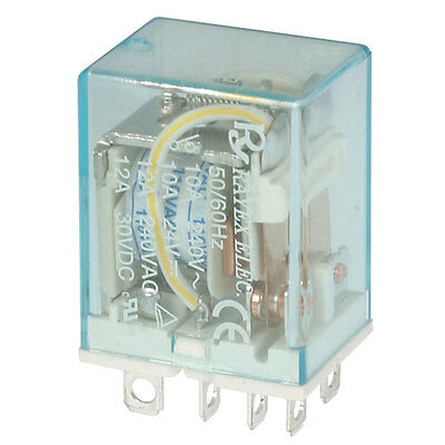 Jameco Valuepro LB2-110A-S-R Relay DPDT 12A 100/110VAC 3.9K Ohm Plug-In