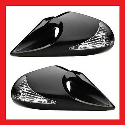 BMW E46 3 Series 4 Door Evo LED Wing Door Mirrors Left & Right Manual