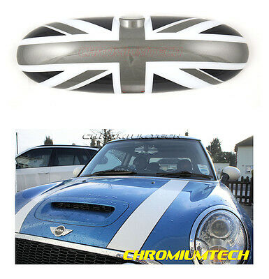 2000-2003 BMW MINI Cooper/S/ONE R50 R53 Black UNION JACK Rear View MIRROR Cover