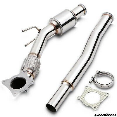 """200Cpi Sports Cat 2.5""""-3"""" Stainless Exhaust Downpipe For Vw Golf Mk5 Mk6 2.0 Tsi"""