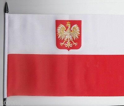 Poland Eagle Medium Hand Waving Flag