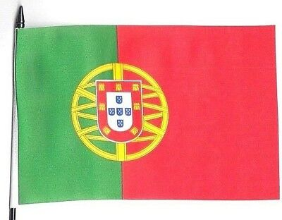 Portugal Medium Hand Waving Flag