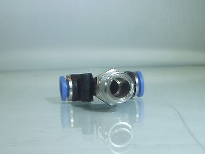 1/4 Bsp Male -8mm Male Centre Swivel Tee                                    b132