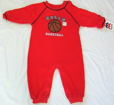 Chicago Bulls Baby Infant Romper Creeper One Piece Outfit Coverall NWT 18M