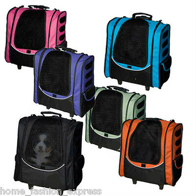Pet Gear I-GO2 Five in One Dog Cat Escort Wheel Carrier Car Seat Backpack NEW