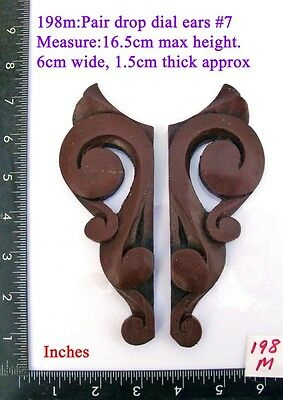"198M ""Pair Replacement Ears"" pattern #7 clock case / furniture DIY"