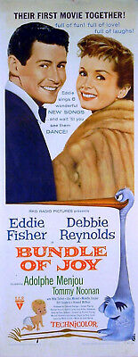 BUNDLE OF JOY 1956 Eddie Fisher, Debbie Reynolds, Adolphe Menjou US INSERT