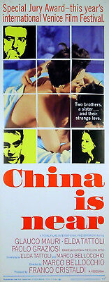 CHINA IS NEAR 1967 Marco Bellocchio Glauco Mauri Elda Tattoli US INSERT POSTER