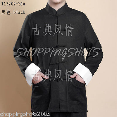 chinese coat clothing clothes for men jacket 113202 black size S--XL in stock