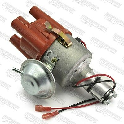 VW Air Cooled 6v or 12v Vacuum Advance Electronic Distributor from Powerspark