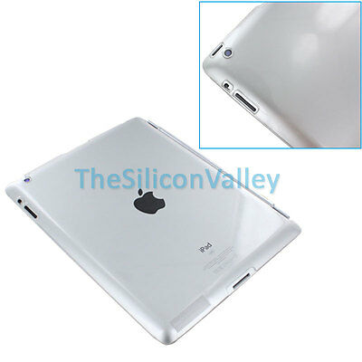 Frosted Clear Crystal Hard Back Case Skin Cover Protector for Apple iPad 2 3 Gen