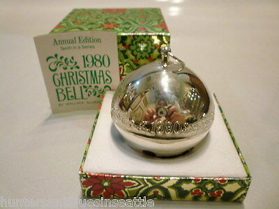 """1980 Wallace Sleigh Bell Christmas Ornament Annual Edition """"Candies & Holly """""""