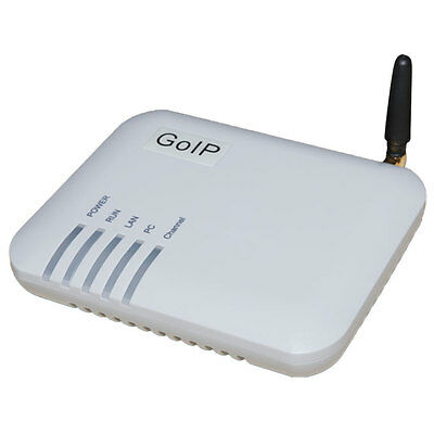 1 SIM port GOIP VOIP GSM gateway support bulk sms send and IMEI changeable