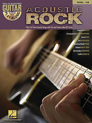 Guitar Play-Along Acoustic Rock Learn to Play Pop TAB Music Book & CD