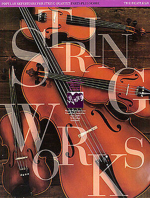 Stringworks The Beatles Learn to Play String Quartet Cello Violin Music Book