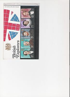 1973 Royal Mail Presentation Pack British Explorers Mint Decimal Stamps