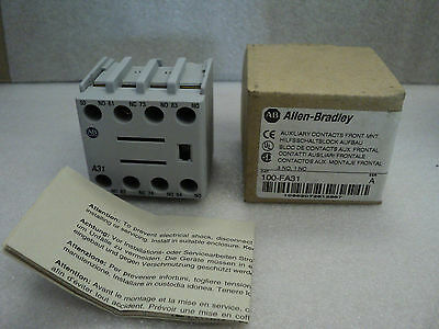 Allen Bradley 100-FA31 Series A Auxiliary Contacts NEW IN BOX 100FA31-A