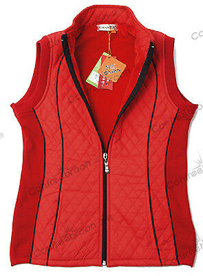 Horse Riding Ladies Vest With Elastic Fabric New Design (Red)L