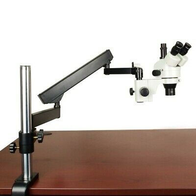 2.1X-45X Zoom Trinocular Stereo Microscope+Articulating Arm Stand+0.3X Barlow