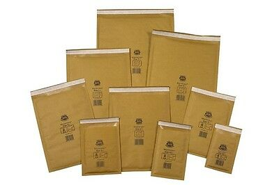 "GENUINE GOLD JIFFY PADDED ENVELOPES BAGS  JL000 90x145  A/000 3.5x5.5"" 10 20 50"