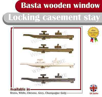 Casement Locking Window Stay White Chrome Brass And Champagne Gold