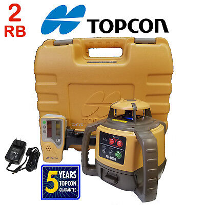 2 (Two) Topcon RL-H4C Rotating Laser Levels - 2 RB Rechargeable Battery Package
