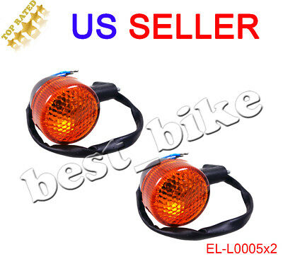 2x Moped Scooter Rear Turn Signal Light GY6 50 150 cc 12V 2 Pin Wire Motorcycle