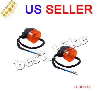 Moped Scooter Front Turn Signal Light GY6 50 150cc 12V 2 Pin Wire Motorcycle 2pc