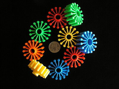 5 WHEELS COLORFUL PLASTIC Bird Parrot Sugar Glider Kids Toys Parts NEW!