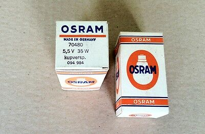Lot of 10 Orsam Bulb Lamp * 70480 5.5V 35W (Made in Germany)