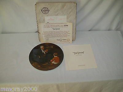 "1982 Norman Rockwell Heritage Collector Plate ""The Tycoon"" MIB"