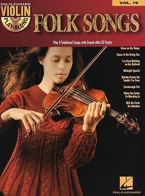 Violin Play-Along Folk Songs Learn to Play Country Pop Fiddle Music Book & CD