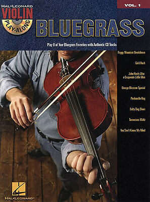 Violin Play-Along Bluegrass Learn to Play Folk Country Fiddle Music Book & CD
