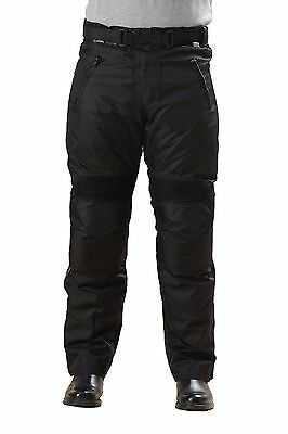 Men's CE Armoured Black Waterproof Motorbike Motorcycle Trousers Thermal Pants