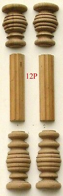 ref:12p    Pair Replacement Vienna Regulator Wall Clock case Door Pillars
