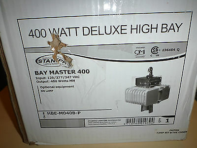 New STANPRO Bay Master 400 High Bay Deluxe 400W Metal Halide Light HBE-M040B-P