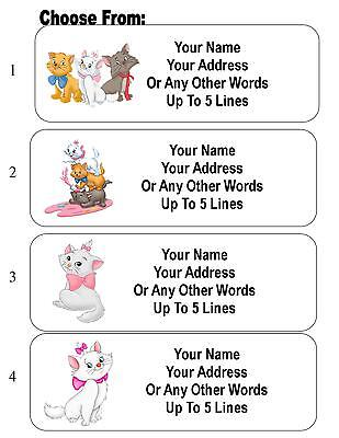 30 Aristocats / Marie Cat Personalized Address Labels